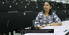 Devika, student testimonial (MSc in Marketing Management and Digital)